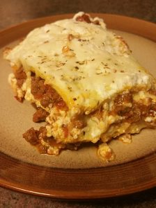 Keto low carb lasagna with cheese noodles