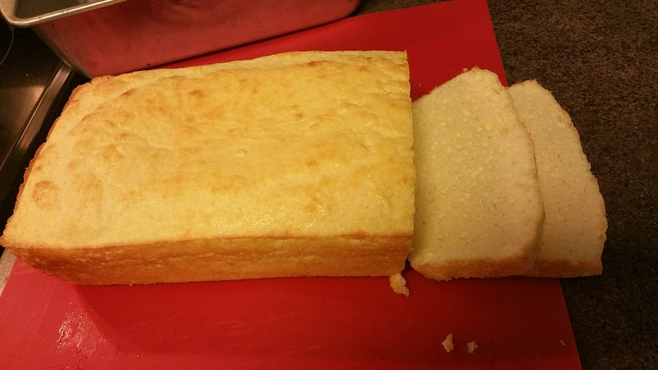 Low carb Soul Bread, full loaf with slices; keto
