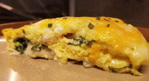 Spinach Bacon Mozzarella Egg Casserole