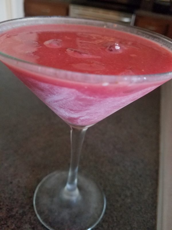 Strawberry Puree Martini, keto friendly