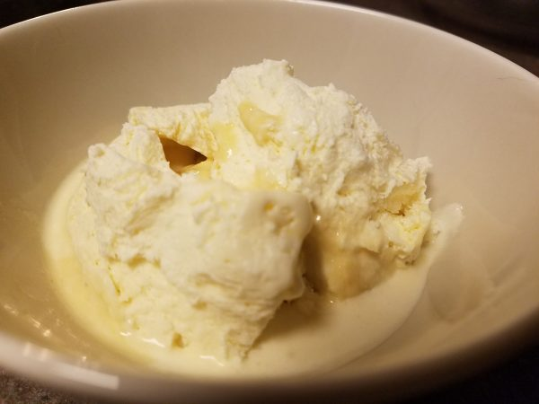 Keto Low Carb Spiked Vanilla Iced cream