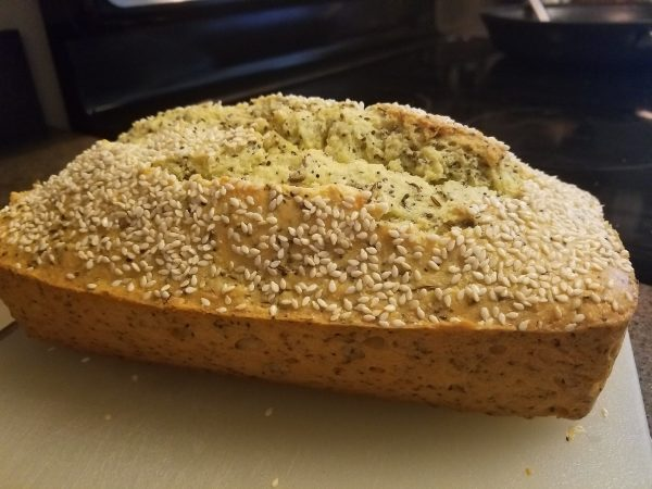 Keto seeded loaf bread