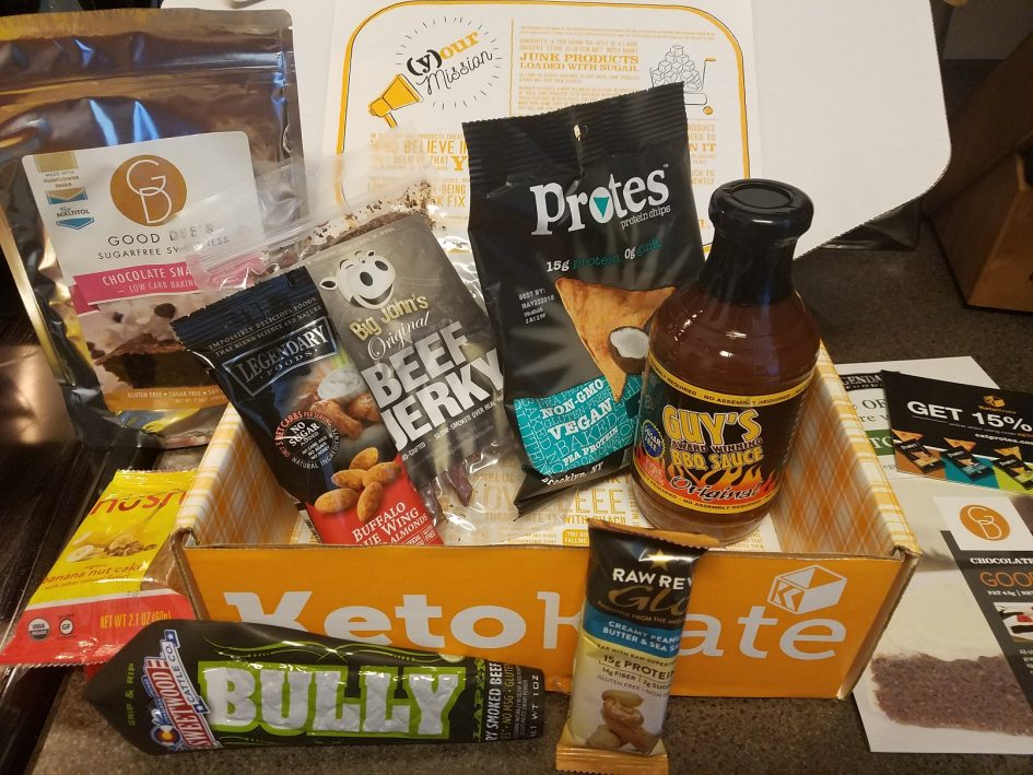 October Keto Krate Monthly Subscription Box