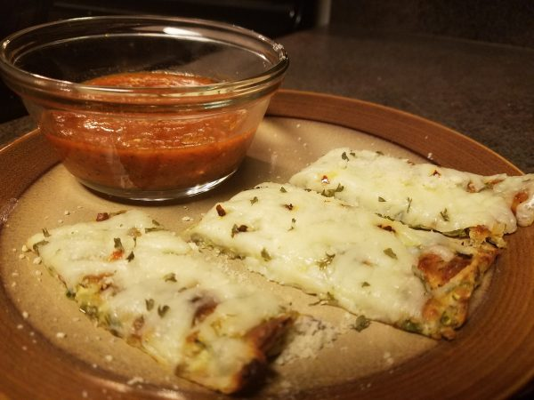 Cauliflower cheese sticks with marinara, low-carb and keto
