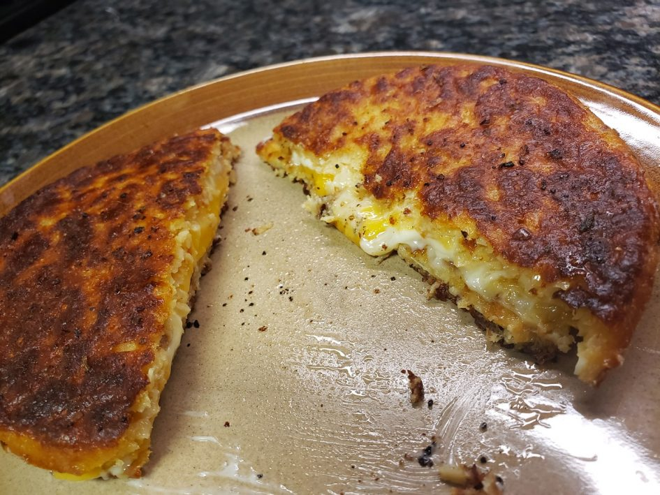 Keto Grilled Cheese on Cauliflower Toast