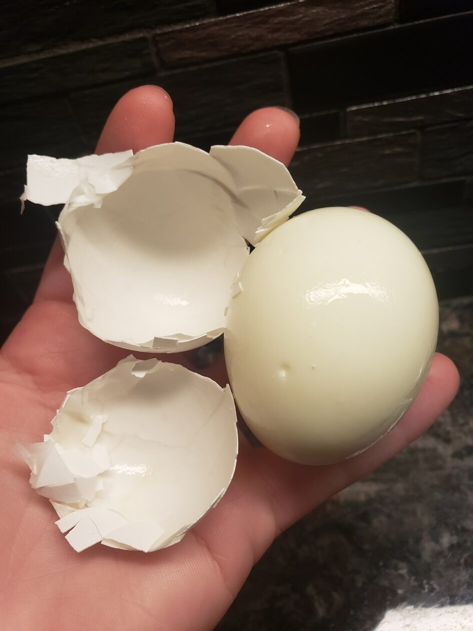 Easy to peel hard boiled eggs